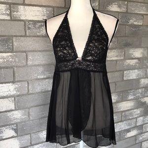 The Lacie by VS halter black nightie size L